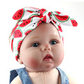 1 DIY Summer Fruit Print Headband Baby Girl Hairband Soft Headwrap Hair Bow Tiara Hair Band Accessories