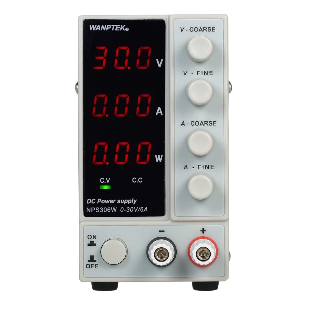 30 V 6A LED commutation numérique DC alimentation régulateurs de tension outil de réparation de laboratoire réglable 0-220 V Source d'énergie