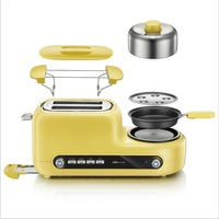 220V Non stick Baked Electric MultiFunctional Automatic Breakfast Toaster Machine Bread Toaster Fried Egg Steamed Egg