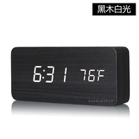 The New Creative LED Wood Clock Electronic Alarm Clock With Temperature Are 3 Working Day After