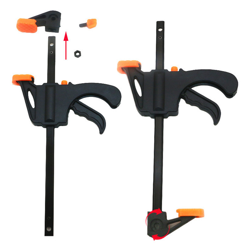 New 4\6\12\18 Inch Quick Ratchet Release Speed Squeeze Wood Working Work Bar Clamp Clip Kit Spreader Gadget Tool DIY Hand quick ratchet release speed squeeze woodworking work bar clamp clip kit 4 6 12 18 inch wooden spreader gadget tool diy hand