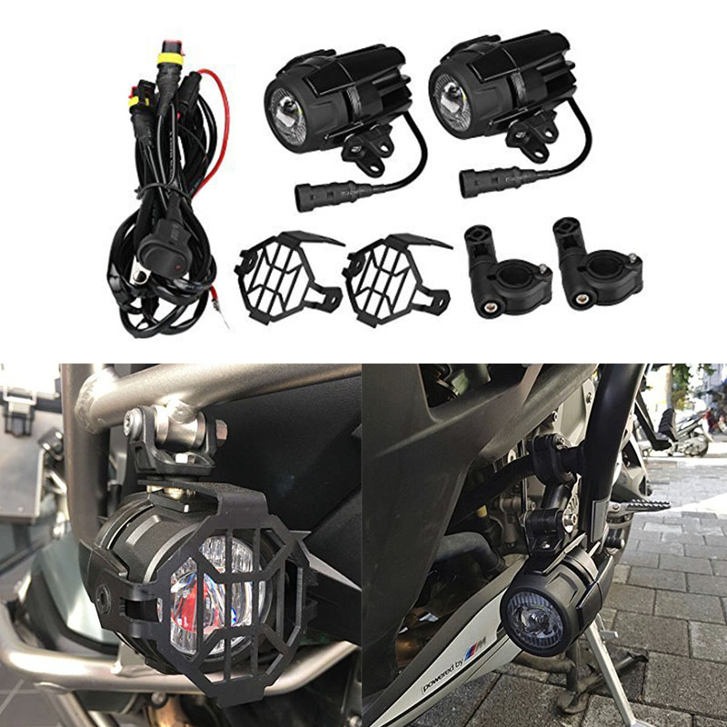 Motorcycle fog lights 40W LED Auxiliary lamp 6000K fog Driving light Kits for BMW R1200gs / ADV K1600 R1200GS R1100GS front head light driving aux lights fog lamp assembly for bmw r1200gs lc adv f800 f750 f650 r1150 gs motorcycle accessories