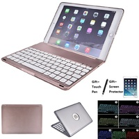 Aluminum Alloy 7 Colors LED Backlight Bluetooth Keyboard Cover Case For iPad Mini 1234 Air 1 2 iPad 2017 2018 9.7 Pro 9.7 Pro 10