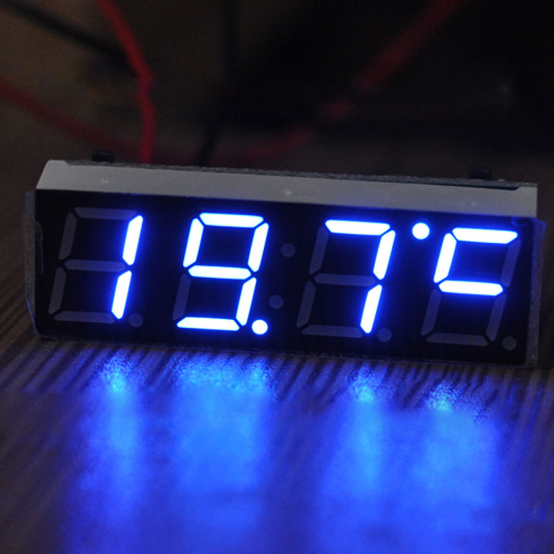 NOYOKERE Good sale 12V 24V Car Auto Digital Led Electronic Time Clock + Thermometer + Voltmeter Three Colors For Choose