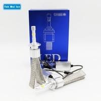 Tak Wai Lee 2Pcs 52W 6000LM 4300K 6000K LED Car Headlight Styling Source IP68 H1 H3 H4 H7 H11 9005 9006 Front Fog Light Bulbs