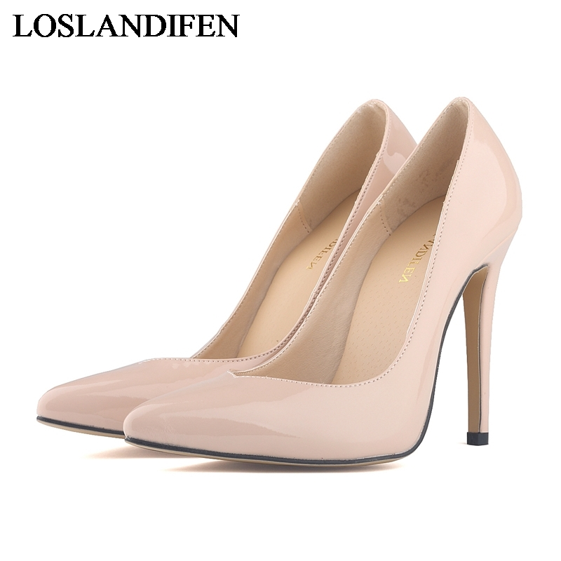 Elegant Women Pumps High Heels Pointed Toe Sexy Patent Leather Women Shoes For Lady High Heel Office Shoes NLK-B0046 brand women shoes high heels 12cm sexy pumps shoes for women patent leather high heels wedding shoes woman high heel b 0054