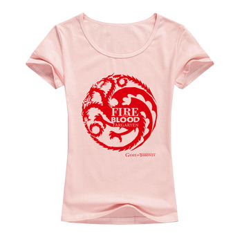 Game of Thrones T Shirts Women Cool Tees Shirts Female Tops Elastic Cotton Casual