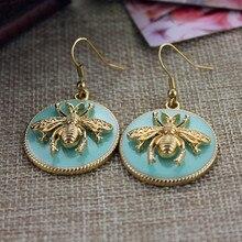 Bee Women's Enamel Drop Earrings