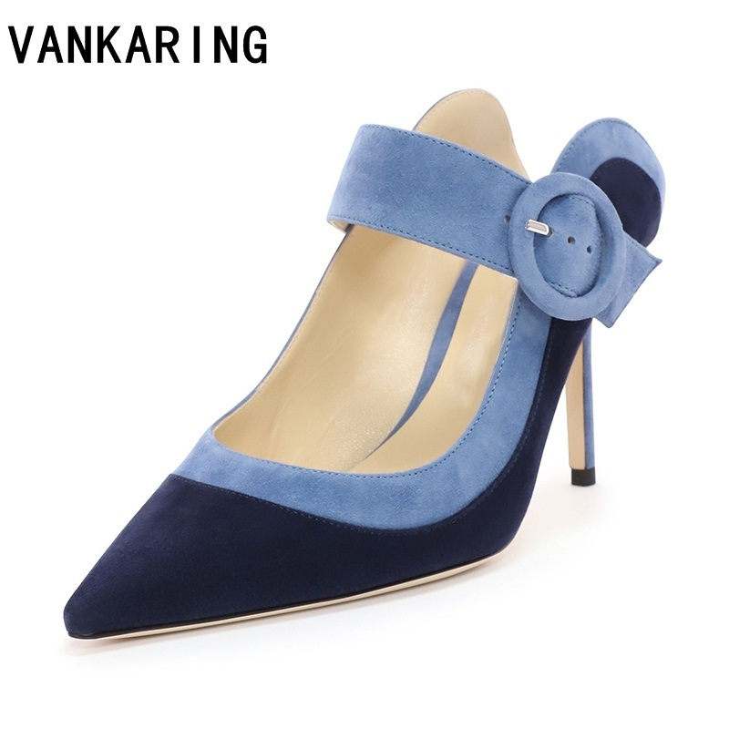 sexy pumps thin high heels genuine leather pointed toe women pumps party dress shoes spring summer