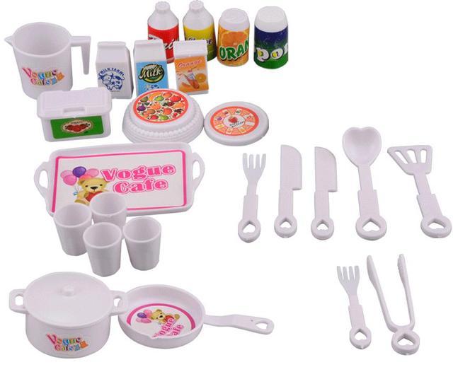 NK 25 шт./компл. самодельные аксессуары для кукол играть дома мини моделирование посуда куклы кухня головоломки Творческий игрушечные лошадки для куклы Барби DZ