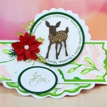 YaMinSanNiO Deer Cutting Dies Scrapbooking Metal Animals Die Cuts for Card Making DIY Embossing New 2019 Crafts