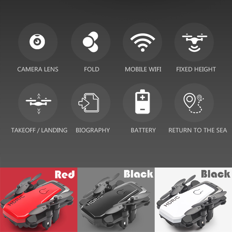 Foldable Mini Drone With RC Quadrocopter With Camera HD Quad-Counter With High Hold RC Helicopter VS E61 HS210 LF606 S9HW E016H 1