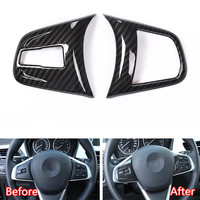 YAQUICKA Car Steering Wheel Button Switch Frame Trim Styling Sticker For BMW X1 F48 2016 18 For BMW 2 series 218i f45 F46 ABS