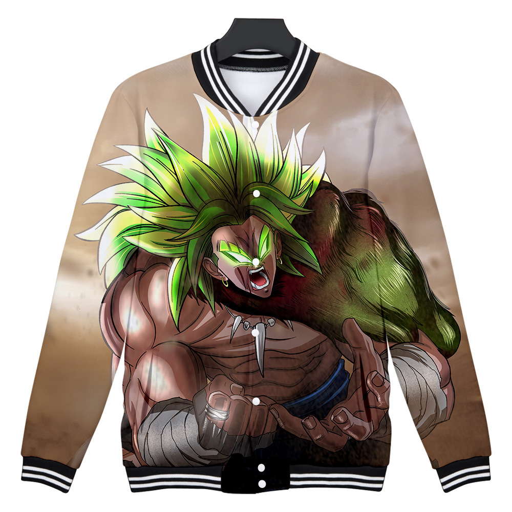 <font><b>Dragon</b></font> <font><b>Ball</b></font> <font><b>Z</b></font> DBZ Super Brolly 3D Print Baseball <font><b>Jacket</b></font> Poleron Hombre Super Saiyan Son <font><b>Goku</b></font> Men/Women Cool Hoodies Sweatshirt image