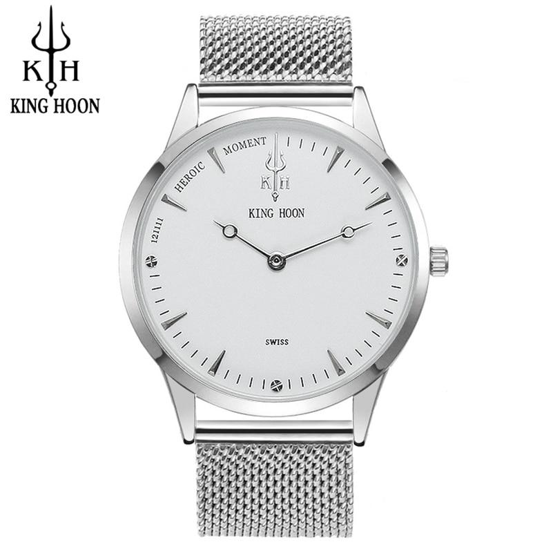 2017 NIEUWE Luxe Merk KINGHOON Mannen Sport Horloges heren Quartz Klok Man Militaire Lederen Polshorloge Relogio Masculino