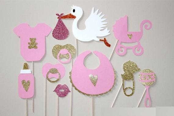 Popular Cegonha Conjuntos Photo Booth Props Photobooth Prop Máscaras Do  Partido Do Chuveiro Do Bebê(