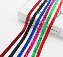 3/8 Inch 9MM Glitter Velvet Ribbon No Elastic Single Face Fabric Tapes Handmade Wrapped Gift Decor Packages