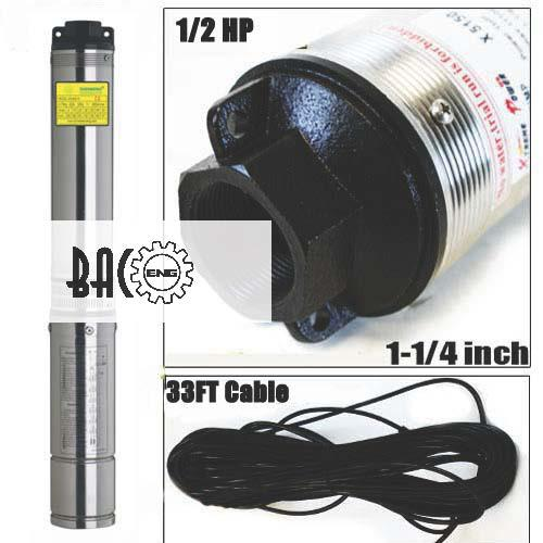 220V Submersible Pump 4'' Deep Well 1HP With Control Box and