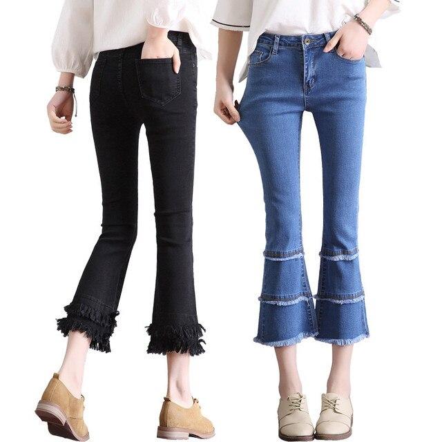 quality design 9c002 d006d Nueva -primavera-verano-moda-mujer-Flared-Vaqueros-bota-femenina-corte-bell-bottom-Vaqueros-Denim-pantorrilla-longitud.jpg 640x640.jpg