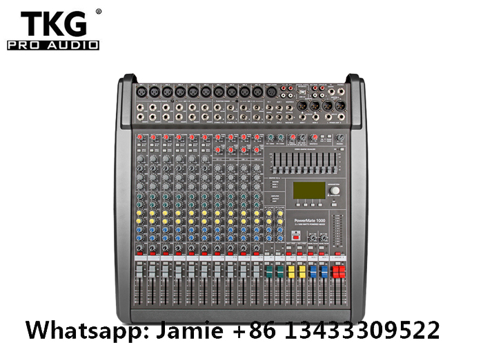 Power mate PM1000 3 Professional sound Mixing Mixer console Sound effects 48 volt phantom power 1000