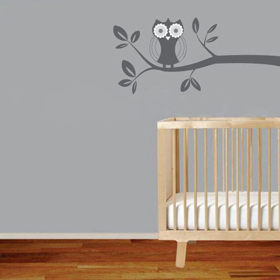 Stickers Muraux Chambre Bébé hiboux sur arbre branche sticker mural art décalcomanie chambre d'enfant  décor
