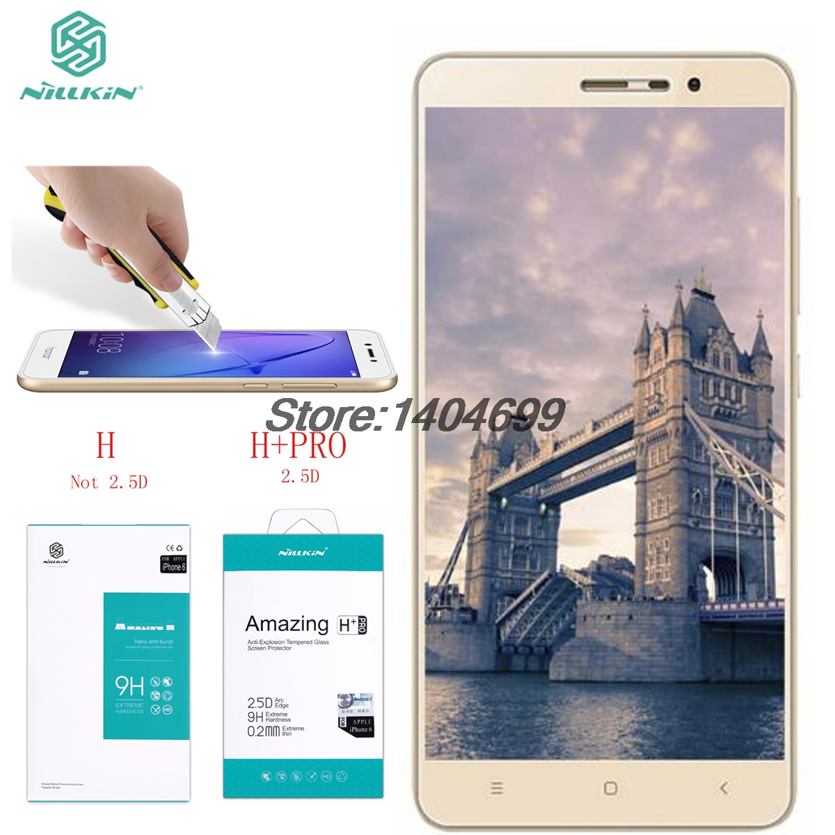 Nillkin Screen Protector Xiaomi Redmi Note 3 Tempered Glass Amazing H H PRO Glass For Xiaomi