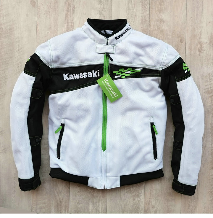Spring Autumn Motorcycle Street Riding Jacket Moto Veste For Kawasaki Team Green Motocross Rally Racing Protective Jackets 2 autogen rally team 50%