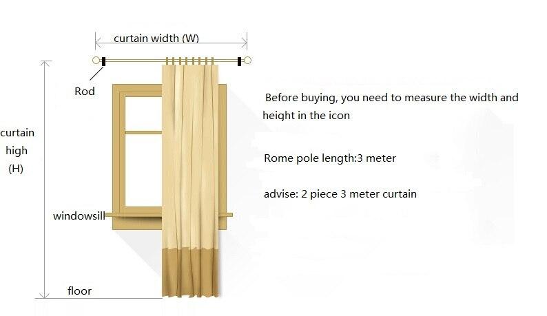 para sala de estar com luxo voile cortina para o quarto
