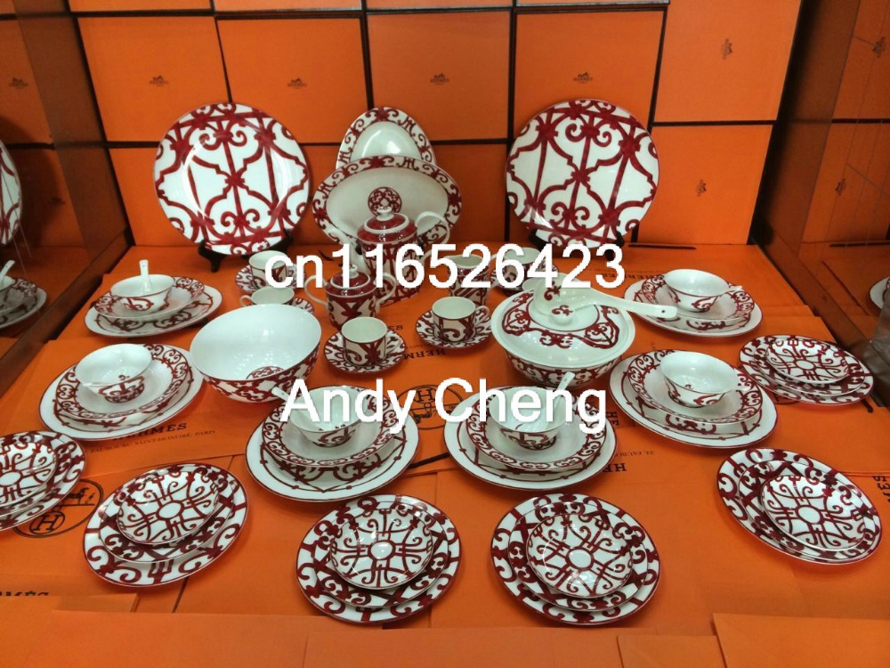 Famous Fine Bone China Dinner Set Dining Room Sets Service For 6 Come With  Box In Dining Room Sets From Furniture