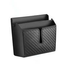 Multifunctional Vehicle Car Storage Box Cellphone Holder Double Pocket Car Styling Accessory Black ME3L