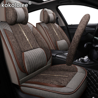 kokololee fabric car seat cover For volkswagen gol ford galaxy peugeot 107 lifan solano lexus is250 geely boyue car set covers