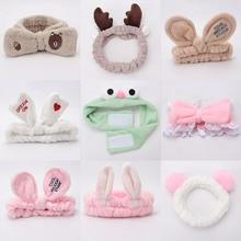 58 стилей женские обручи и маски для макияжа для девочек повязка-стрейч на голову кошачьи уши кролика головной убор Мультяшные волосы аксессуары