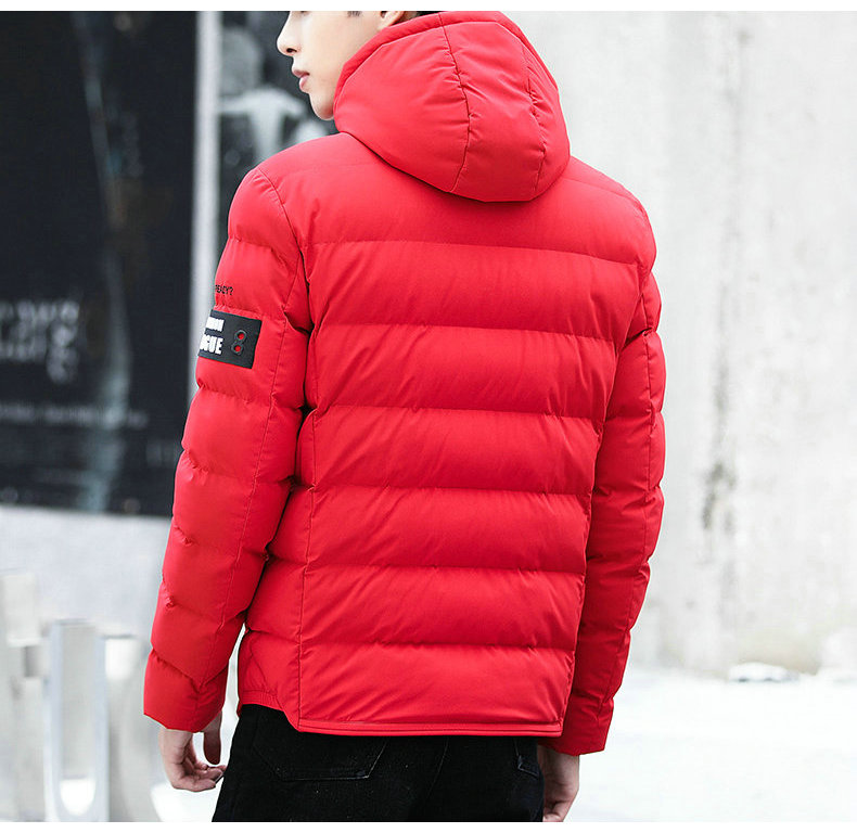 drop shipping New Fashion Men Winter Jacket Coat Hooded Warm Mens Winter Coat Casual Slim Fit Student Male Overcoat ABZ82 8