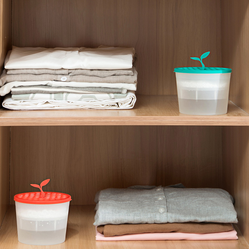 3 colores Mini deshumidificador para casa humedad absorbente caja con desecante gabinete de ropa de secadores