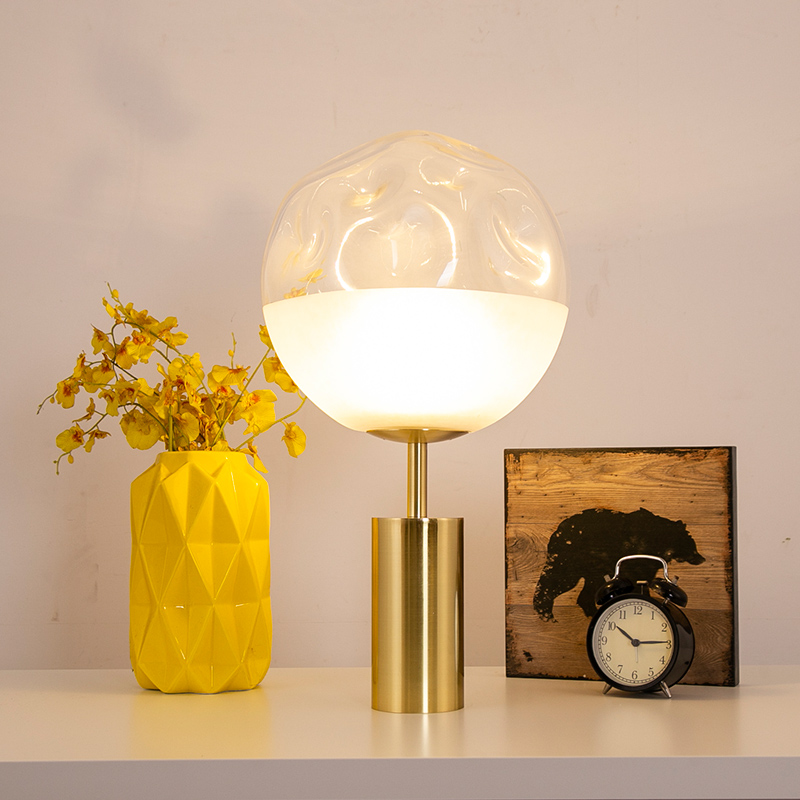 Nordic table lamps warm bedroom bedside desk lamps postmodern light luxury creative glass ball desk light decoration FixturesNordic table lamps warm bedroom bedside desk lamps postmodern light luxury creative glass ball desk light decoration Fixtures