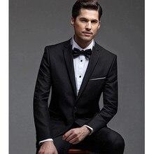 bespoke suit prom tuxedo for wedding tuxedo black custom made suit high quality for 2017 dress