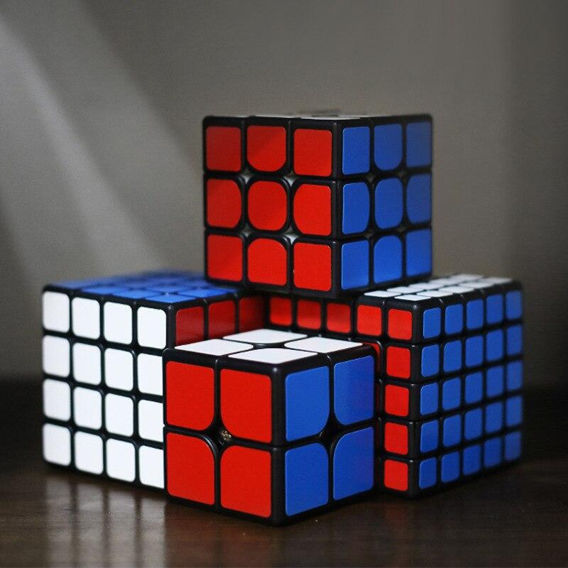 ShengShou 2x2 3x3 4x4 5x5 vitesse magnétique Cube magique Twist Puzzle jouets boîte cadeau MRM noir paquet Verison