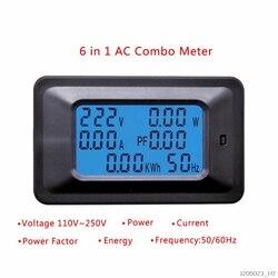 20A/100A AC LCD cyfrowy Panel moc wat miernik Monitor napięcia KWh woltomierz amperomierz Tester narzędzia|Liczniki energii|   -