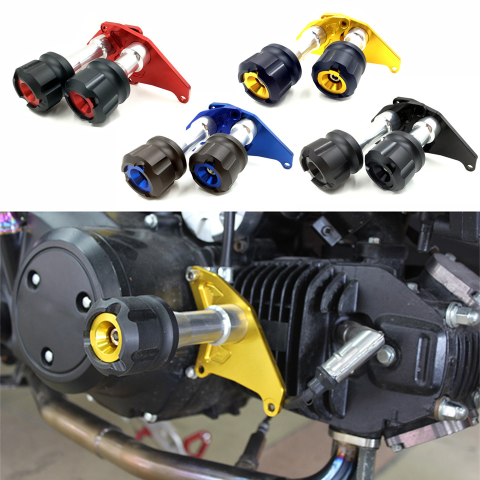 Hot High Quality Motorcycle Crash Protector CNC Engine Cover Frame Sliders For Honda MSX125 MSX125SF 2013 - 2016 MSX 125 125SF for honda msx125 msx125sf 2013 2014 2015 2016 blue cnc motor engine guard cover motorcycle engine wrestling decorative cover