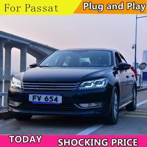 Image 2 - Car Styling for VW Passat B7 US Verson 2012 2016 Headlight For Passat B7 Headlight DRL D2H dynamic turn signal Hid Bi Xenon Beam