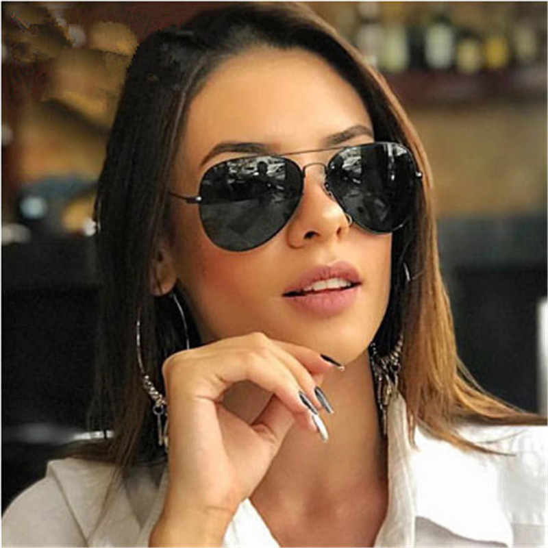 CURTAIN Pilot Sunglasses Women Classic Literary Metal Oval Glasses 2019 Vintage Fashion Designer Brand Luxury Outdoor Sun UV400