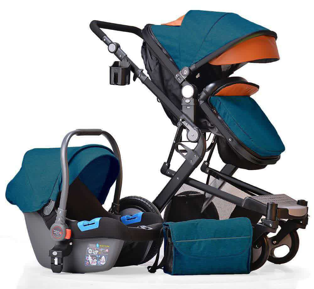 High landscape stroller 2in1 can sit reclining folding light two-way four-wheel shock absorber baby stroller