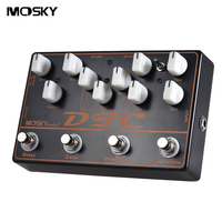 MOSKY DTC 4 in 1 Electric Guitar Effects Pedal Distortion + Overdrive + Loop + Delay strings Guitar Parts & Accessories