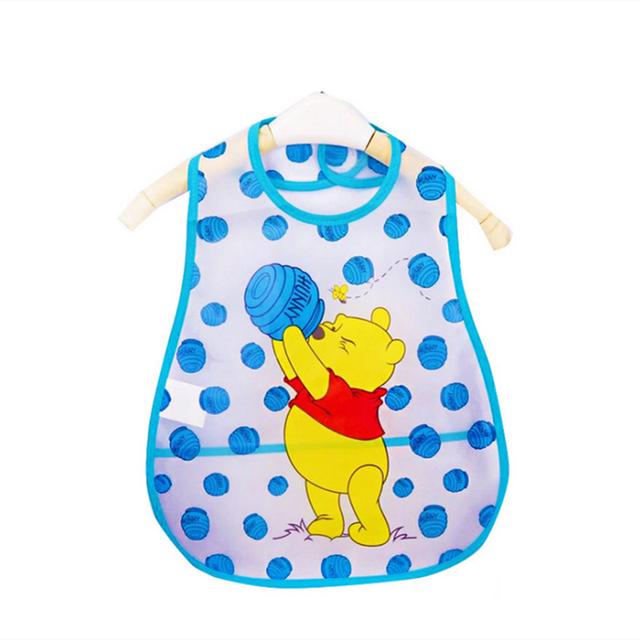 Baberos de bebé ajustables de plástico EVA impermeables para comer Baberos de bebé de dibujos animados paño de alimentación niños bebé delantal Babador de bebe