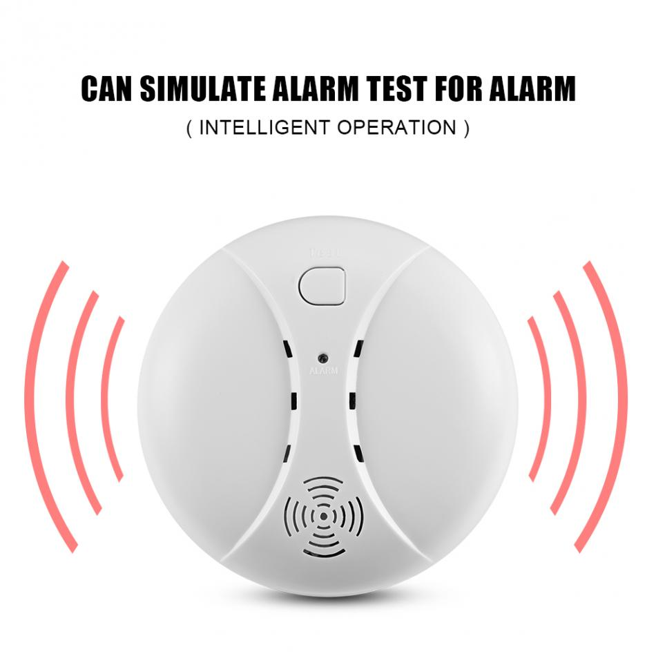 GSM Wireless Smoke Fire Detector Smoke Alarm Home Security System Wifi Smoke Alarm wireless smoke fire detector smoke alarm for touch keypad panel wifi gsm home security system without battery