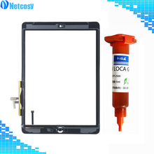 For ipad Air1 Touch Screen Digitizer panel Assembly & Home Button For ipad A1474 A1475 A1476 touch panel For ipad 5 & UV Glue