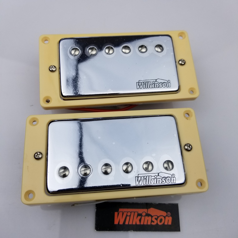 High Quality Guitar Pickup Wilkinson LP SG Electric Guitar Humbucker Pickups closed MWVC Silver Chrome Cover tg02 high quality boat style a4 steel electric guitar jack set silver