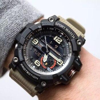 7fd0eacb0 Novo Relógio Militar Homens G Choque Wateproof Estilo Esporte Mens Relógios  Top Marca de Luxo LED Digital-relógio Militar Do Exército relógios de pulso
