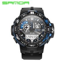 2017 SANDA Mens Watches Top Brand Luxury Sport Watch Men Digital Analog Multifunctional Alarm Military Watches Relogio Masculino