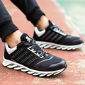 Zapatos de los hombres de 2016 Nueva Moda Casual Top del Alto de Cuero de la Marca transpirable Hombres Entrenadores Hoja Cesta Superstar Femme Flat Lace Up zapatos